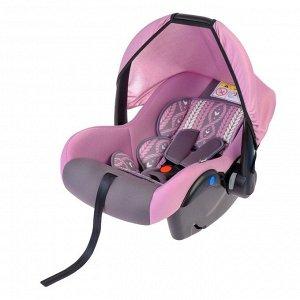 Автокресло Safe+, группа 0+, цвет серый/розовый «Нежность»