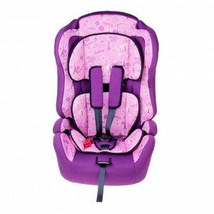 Автокресло-бустер Multi, группа 1-2-3, цвет фиолетовый «Париж»