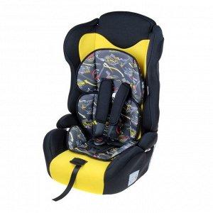 Автокресло-бустер Multi, группа 1-2-3, цвет жёлтый/чёрный «Формула скорости»