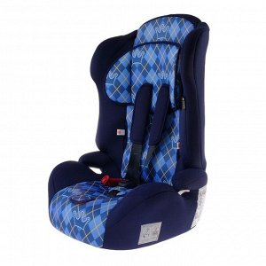 Автокресло-бустер Multi, группа 1-2-3, цвет синий «Клетка»