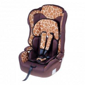 Автокресло-бустер Multi, группа 1-2-3, цвет коричневый «Жираф»