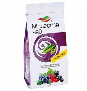 """Чай черный байховый с натуральными ягодами """"Мацеста чай"""" 75г"""