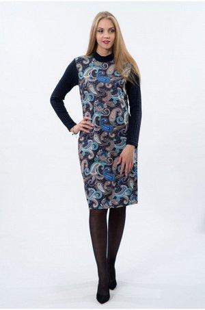 Платье комбинированное огурцы