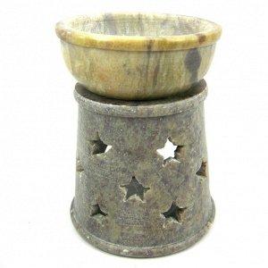 Аромалампа Звёзды, камень (Индия), 9 см