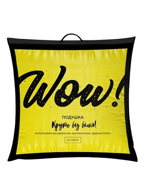 Подушка Wow 70х70 миткаль - желтый