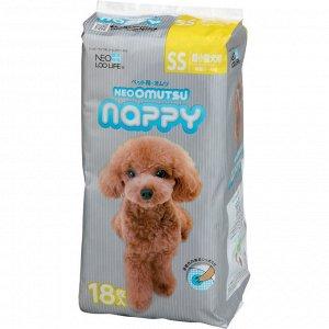 """""""Neo Loo Life"""" """"NEOOMUTSU"""" Подгузники для домашних животных , размер SS (2-4 кг.), 18 шт."""
