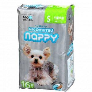 """""""Neo Loo Life"""" """"NEOOMUTSU"""" Подгузники для домашних животных, размер S (3-6 кг.), 16 шт"""