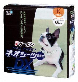 """""""Neo Loo Life"""" """"NEO SHEET DX"""" Пелёнки впитывающие для домашних животных с активированным углем (34*45см), 88 шт"""