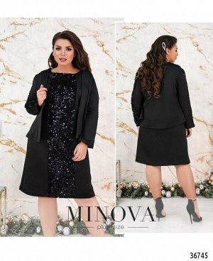Платье №141Б-черный