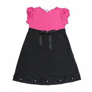 Платье к/р 8120277 В малин-черн 110-150/5*