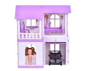 """Домик для кукол """"Дом Алиса"""" бело-сиреневый (с мебелью) KRASATOYS  000282"""