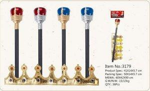 Корона карнавальная в наборе с жезлом OBL715551 31792 (1/240)