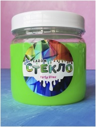 """Лепа Слайм """"СТЕКЛО"""" Party Slime НЕОН зеленый, 400 гр 00-00001272"""