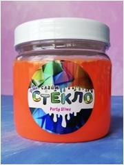 "Лепа Слайм ""СТЕКЛО"" Party Slime НЕОН оранжевый, 400 гр 00-00001273"