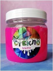 "Лепа Слайм ""СТЕКЛО"" Party Slime НЕОН розовый, 400 гр 00-00001275"