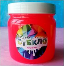 "Лепа Слайм ""СТЕКЛО"" Party Slime НЕОН красный, 400 гр 00-00001276"
