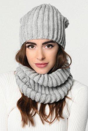 Набор шапка-шарф 31903-4, Модные шапки для современных девушек