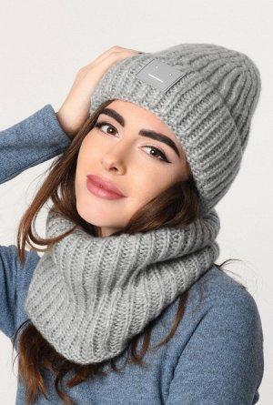 Набор шапка-шарф 31910-4, Модные шапки для современных девушек
