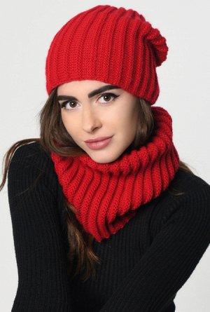 Набор шапка-шарф 31903-14, Модные шапки для современных девушек