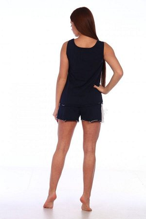 Пижама Цвет: Темно-синий; Ткань: Вискоза; Размеры: 44, 46, 48, 50, 52, 54