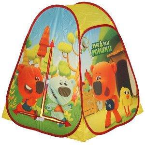 Палатка детская игровая МИМИМИШКИ 81х90х81см, в сумке, Играем вместе