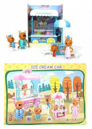 Лавка мороженого с котятами Ice Cream Car 4 фигурки