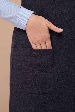 Костюм Костюм Linia-L А-1755  Сезон: Осень-Зима Рост: 164  Повседневный двухпредметный комплект: блузка и сарафан. Блузка из рубашечной стрейчевой ткани полуприлегающего силуэта. Рукав длинный с прит