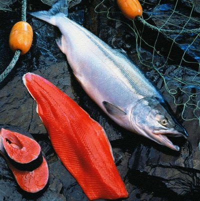 Рыбка, креветка, кальмар и очень вкусная икра! — Нерка / Кета — Свежие и замороженные