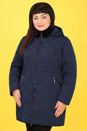 Синий Примечание:замеры длин соответствуют размеру 54 Длина куртки:85 см Длина рукава:63 см Подкладка:есть, синтепон Застежка:молния Карманы:есть, два функциональных Декор:люверсы, наконечники