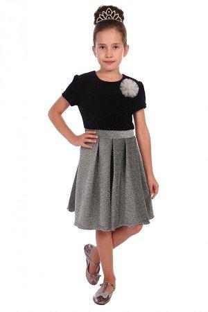 Платье Розалия Размер 26-38 (велюр, люрекс), ПЛ-41