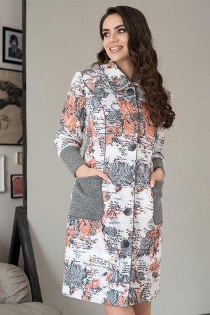 Пальто ЮРС Пальто ЮРС 18-791/2 Состав ткани: Вискоза-25%; ПЭ-71%; Спандекс-4%; Рост: 164 см. Совершенно невозможно представить себе гардероб женской одежды без оригинального, стильного и модного пальт