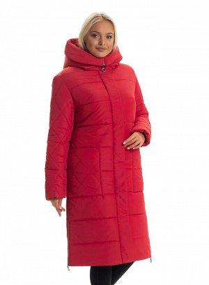 Пуховик женский недорого от производителя Код: 137 - 1 красный