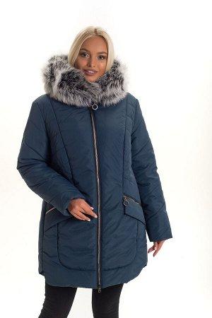 Женская куртка больших размеров Код: 132 малахит. чбк