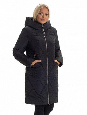 Тёплый женский пуховик Код: 136 -1 чёрный