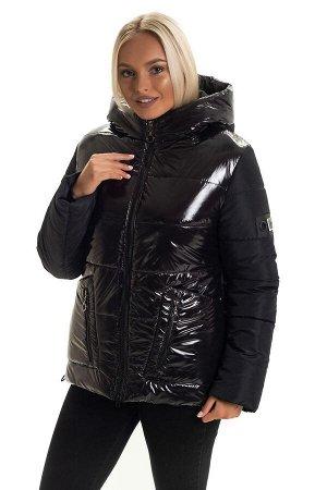 Короткая модная куртка без меха Код: 139 -1 чёрная
