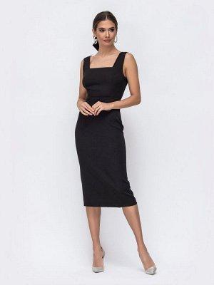 Платье 48 чёрное с открытой спиной