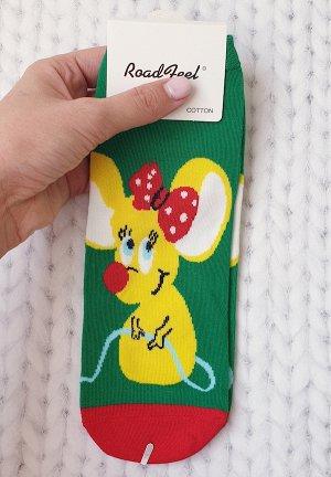 Носки Мышка с бантиком.