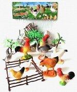 Набор животных 2C214-1 Домашних с аксессуарами, в пакете