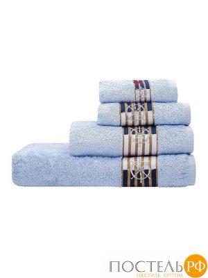 Калипсо 70*140 голубое полотенце 70% Бамбук 30% Тенсел