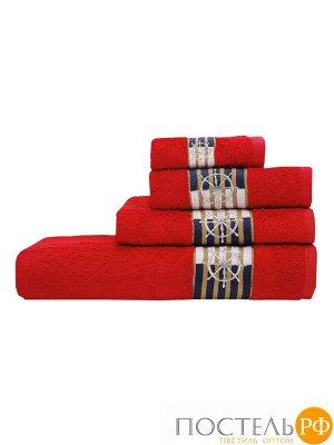 Калипсо 50*90 красное полотенце 70% Бамбук 30% Тенсел