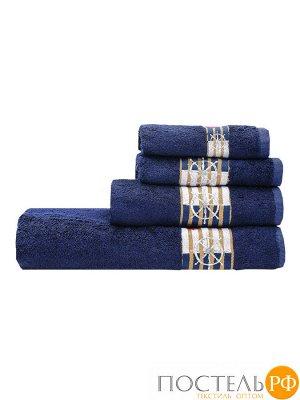 Калипсо 50*90 синее полотенце 70% Бамбук 30% Тенсел