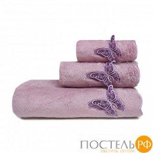 ШАДО 30*50 сиреневое полотенце махровое