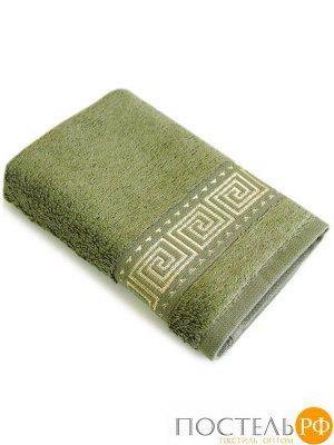 Мокко 90*145 зеленое полотенце Бамбук 70% Тенсел 30%