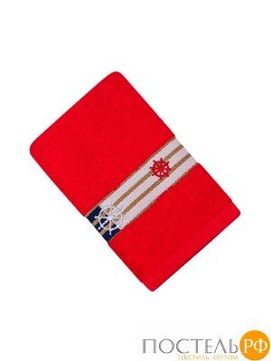 Калипсо 30*70 красное полотенце 70% Бамбук 30% Тенсел