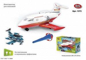 """Конструктор-скрутка для малышей """"Самолет"""" со свет. звук. эффектами , кор. 27,5*25,5*11 см."""