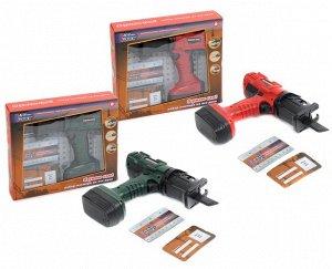 """Набор """"BeBoy"""" Инструменты (лобзик на бат., линейка, карточка) в ассорт. в/к 26*6*22,5 см."""