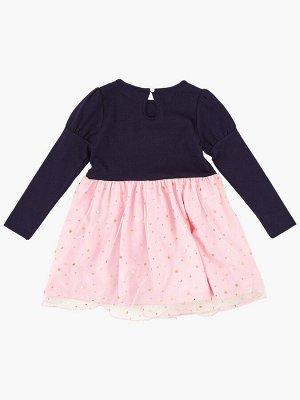 *Платье (98-122см) UD 4418(3)син/роз/зол звезды