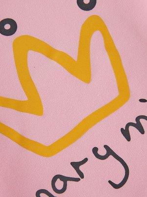 """Джемпер """"Корона"""" (98-122см) UD 2035(1)розовый"""