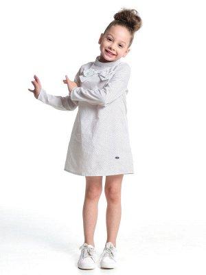 Платье с бантом (98-122см) UD 3989(1)бел/горошек
