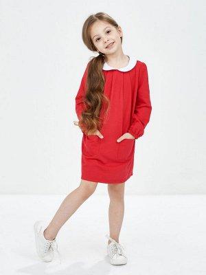 Платье с воротником (98-116см) UD 1446(2)красный